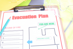 Fire Safety Plan Vancouver Drawing sample